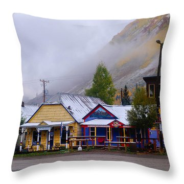 Silverton Back Street Throw Pillow