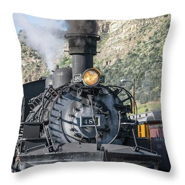 Throw Pillow featuring the photograph Silverton Bound by Colleen Coccia