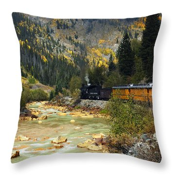 Throw Pillow featuring the photograph Silverton Bound by Kurt Van Wagner