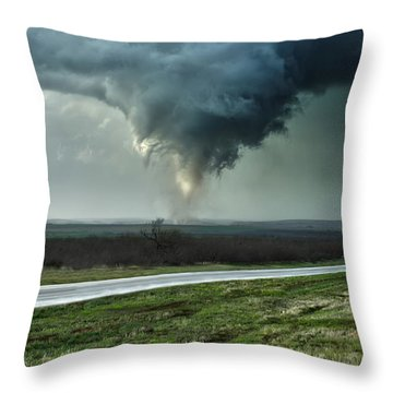 Silverton Texas Tornado 2 Throw Pillow
