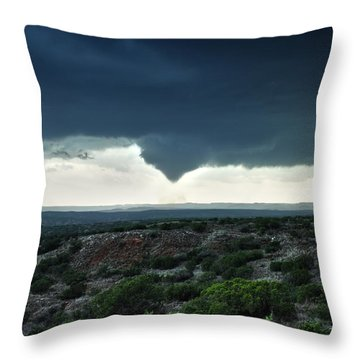 Silverton Texas Tornado Forms Throw Pillow
