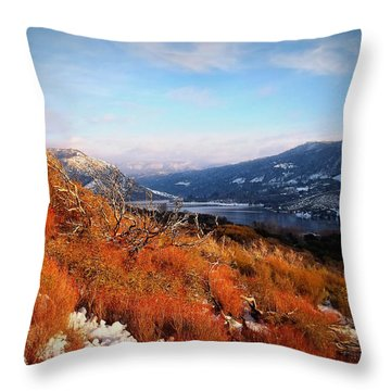 Throw Pillow featuring the photograph Silverwood Lake - California by Glenn McCarthy Art and Photography