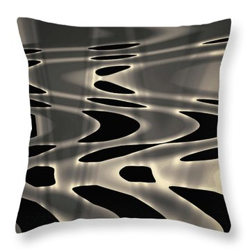 Silvery Abstraction Toned  Throw Pillow