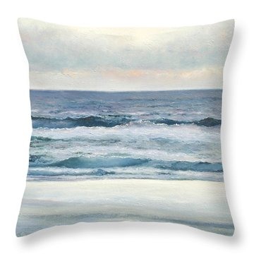 Silvery Morn Throw Pillow