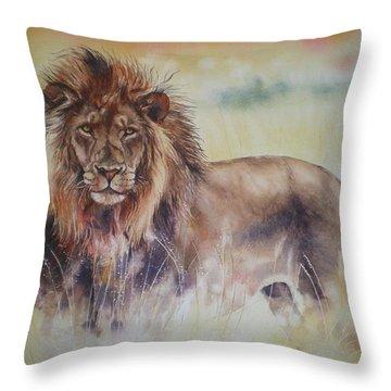 Simba Throw Pillow by Sandra Phryce-Jones