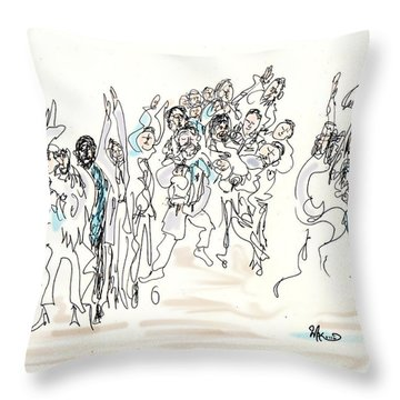 Simchat Torah Throw Pillow