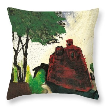 Throw Pillow featuring the painting Simiane La Rotonde by Martin Stankewitz
