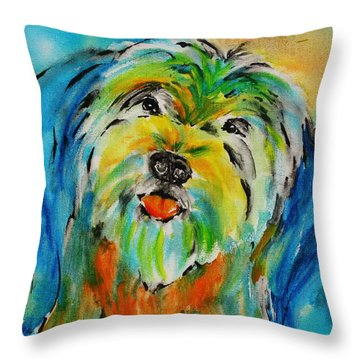 Simon Love Throw Pillow by Tara Moorman