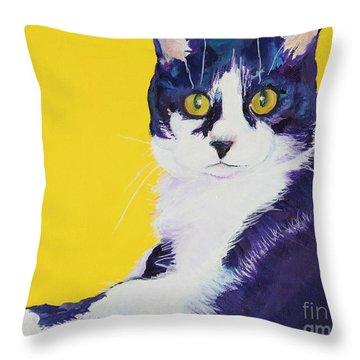 Simon Throw Pillow by Pat Saunders-White