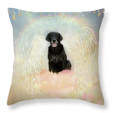 Throw Pillow featuring the digital art Simone by Sue Collura