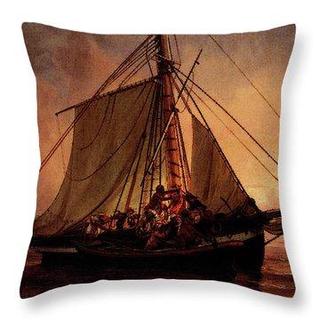 Simonsen Niels Arab Pirate Attack Throw Pillow by Niels Simonsen