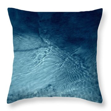 Simple Blue Throw Pillow