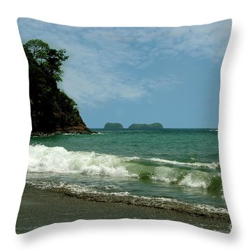 Simple Costa Rica Beach Throw Pillow