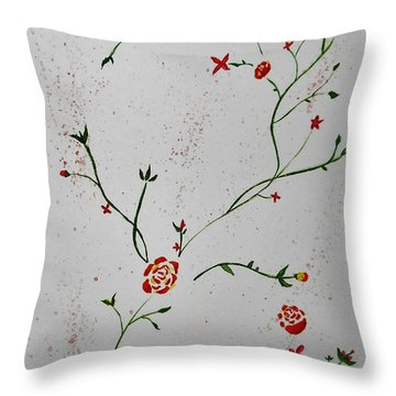 Simple Flowers #1 Throw Pillow