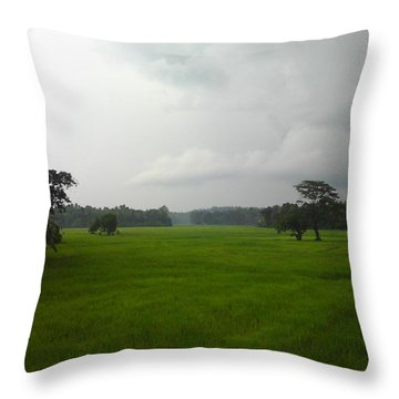 Simple Green Throw Pillow by Rushan Ruzaick