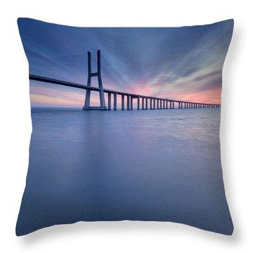 Simple Long Bridge Throw Pillow