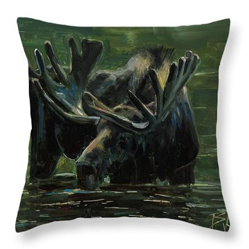 Throw Pillow featuring the painting Simple Pleasures by Billie Colson