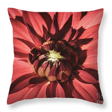 Simple Red Throw Pillow