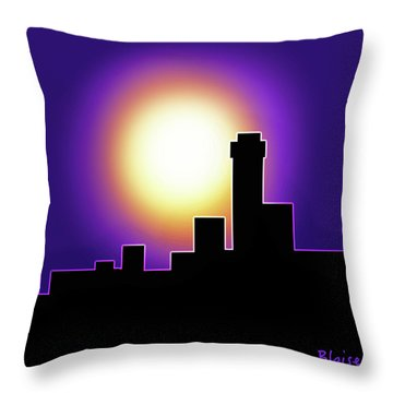 Simple Skyline Silhouette Throw Pillow by Yvonne Blasy