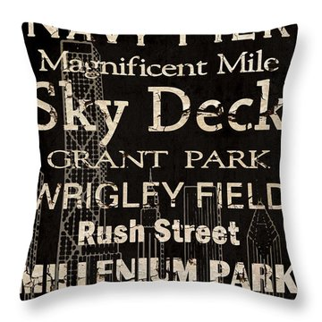 Simple Speak Chicago Throw Pillow by Grace Pullen