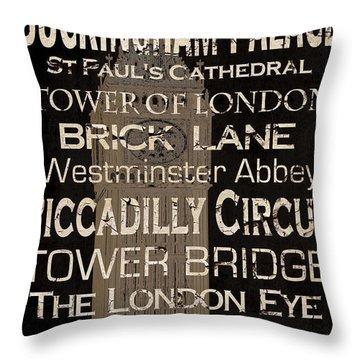 Simple Speak London Throw Pillow