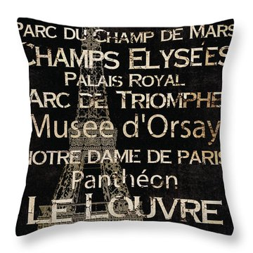 Simple Speak Paris Throw Pillow