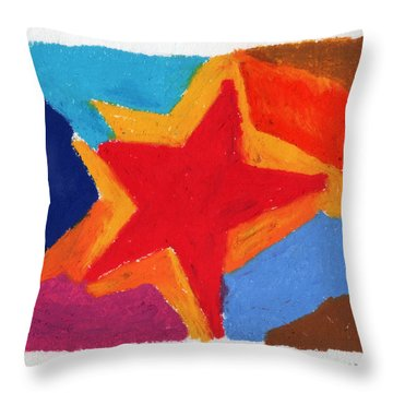 Simple Star Throw Pillow by Stephen Anderson