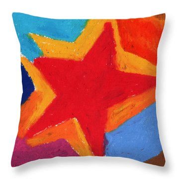 Simple Star-straight Edge Throw Pillow by Stephen Anderson