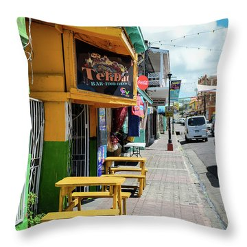 Simple Street View Throw Pillow