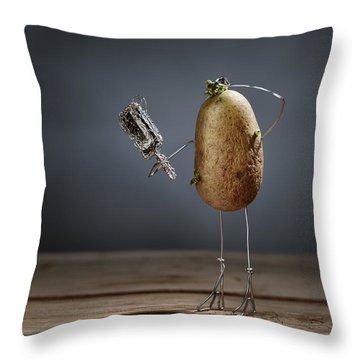 Simple Things - Fading Beauty Throw Pillow by Nailia Schwarz