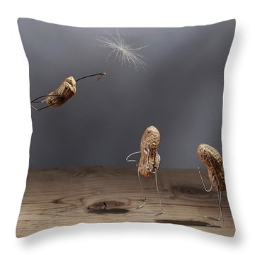 Simple Things - Flying Throw Pillow
