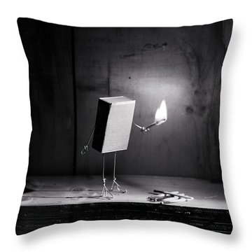 Simple Things - Light In The Dark Throw Pillow