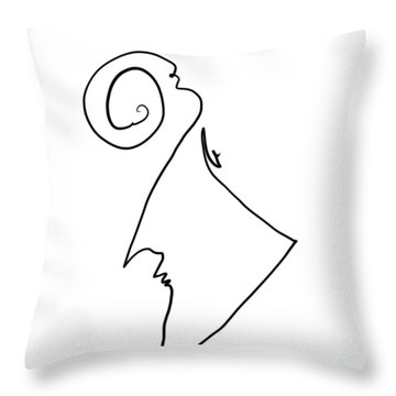 Simple Thought Throw Pillow