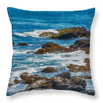 Simple Waves Throw Pillow