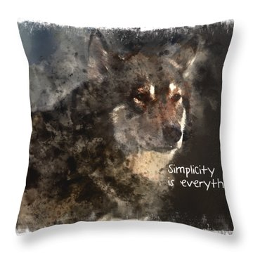 Throw Pillow featuring the digital art Simplicity by Elaine Ossipov