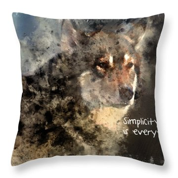 Simplicity Is Everything -light Throw Pillow