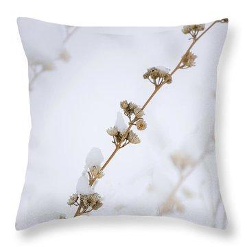Simplicity Of Winter Throw Pillow