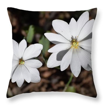 Throw Pillow featuring the photograph Simplistic Duo by Deborah  Crew-Johnson