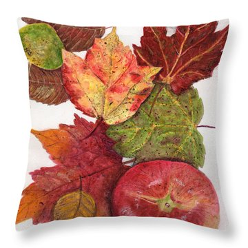 Throw Pillow featuring the painting Simply Delicious by Peggy A Borel