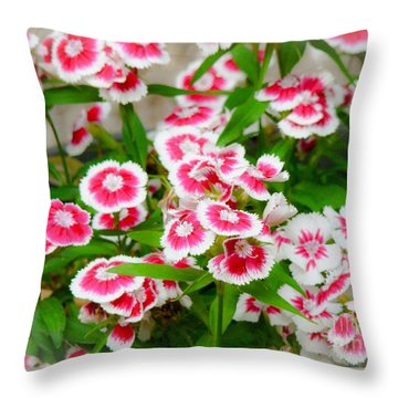 Simply Flowers Throw Pillow