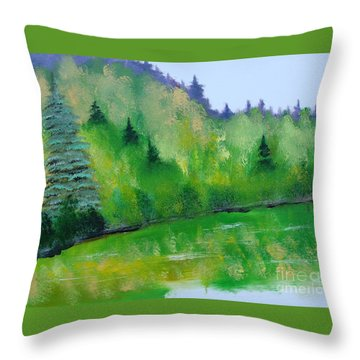 Simply Green Throw Pillow by Rod Jellison