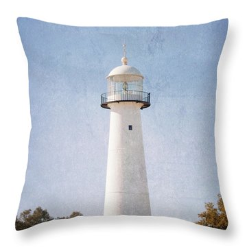 Simply Lighthouse Throw Pillow