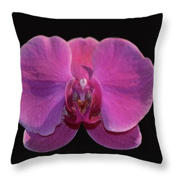 Simply Orchids Throw Pillow