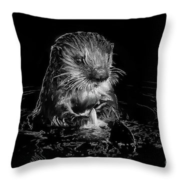 Simply Otter Throw Pillow