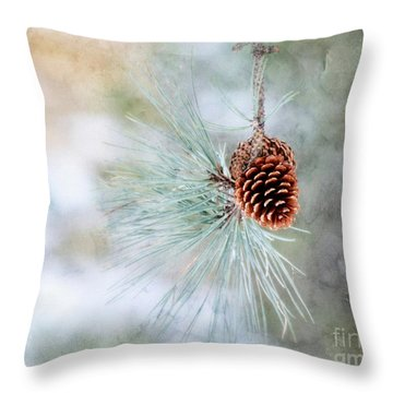 Simply Simple Throw Pillow by Brenda Bostic