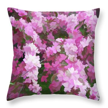 Throw Pillow featuring the photograph Simply Soft Beautiful Blossoms by Aimee L Maher Photography and Art Visit ALMGallerydotcom