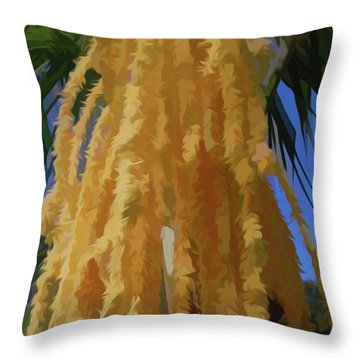 Throw Pillow featuring the photograph Simply Soft Cascading Seed Pod by Aimee L Maher Photography and Art Visit ALMGallerydotcom