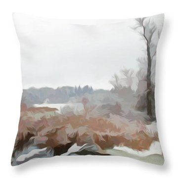 Throw Pillow featuring the photograph Simply Soft Winters Glory by Aimee L Maher Photography and Art Visit ALMGallerydotcom