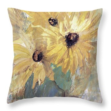 Simply Sunflowers  Throw Pillow
