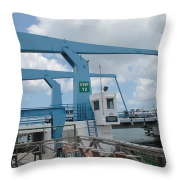 Simpson Bay Bridge St Maarten Throw Pillow